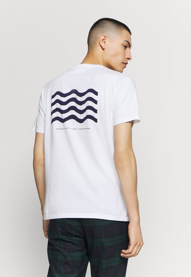 WAVE - T-shirt con stampa - bright white