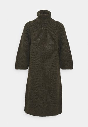 YASBRAVO ROLL NECK DRESS - Abito in maglia - black olive