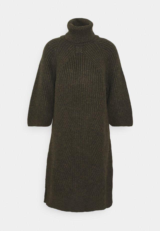 YASBRAVO ROLL NECK DRESS - Jumper dress - black olive
