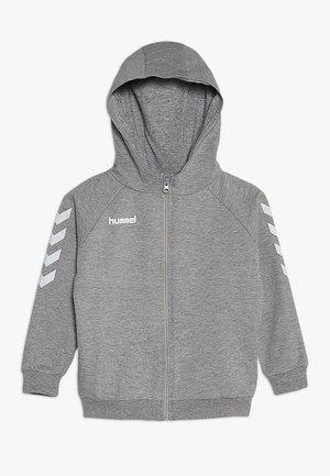 HMLGO - Zip-up hoodie - grey melange