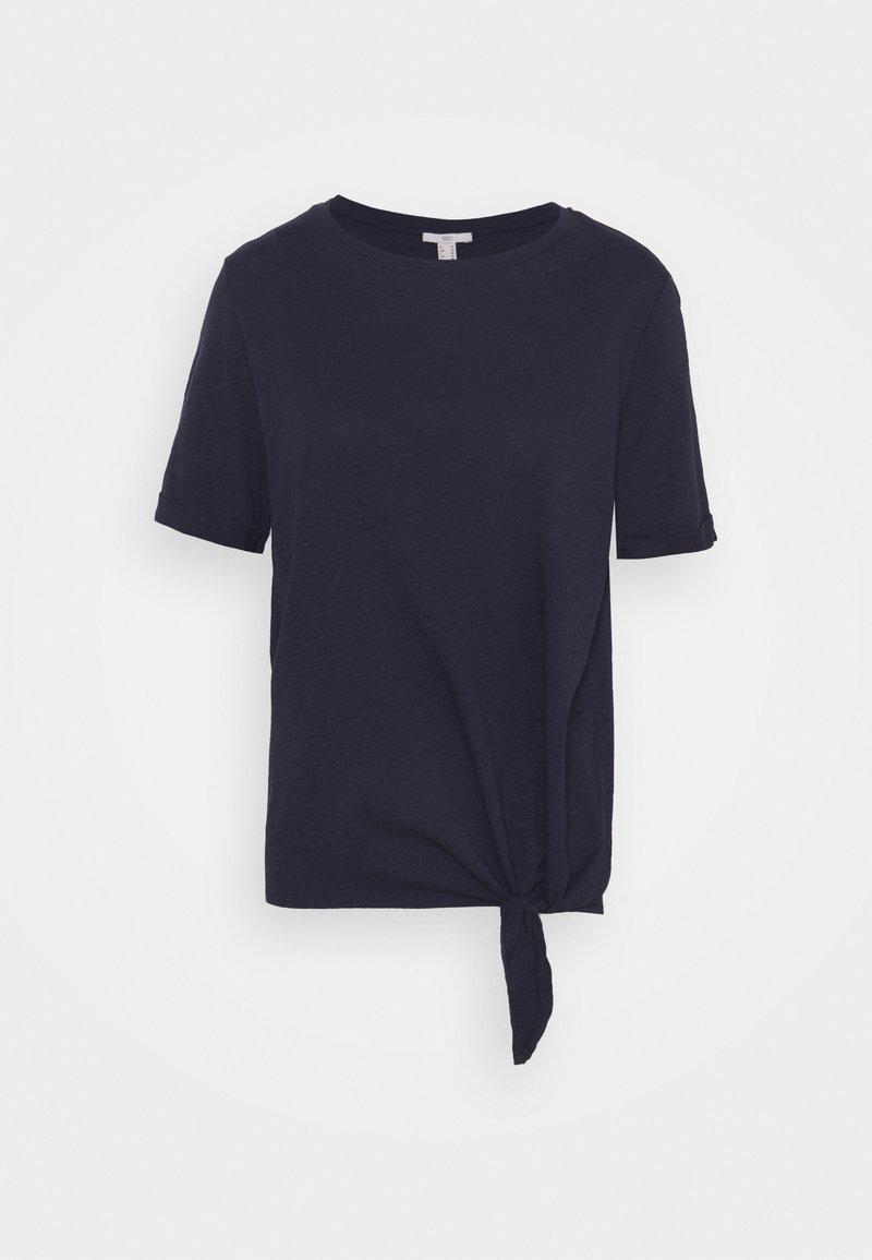 edc by Esprit - TIE TEE - Print T-shirt - navy