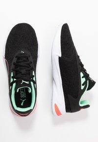 Puma - JARO  - Zapatillas de running neutras - black/green glimmer/ignite pink - 1
