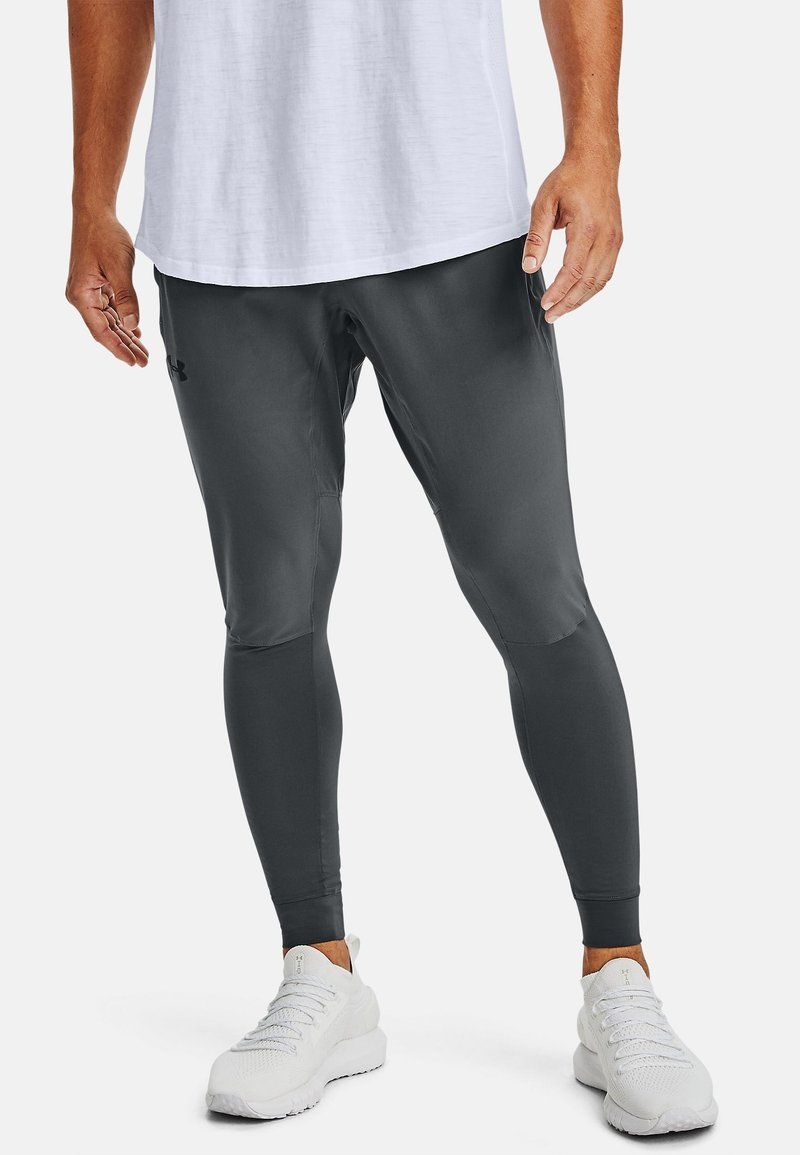 Under Armour - HYBRID - Tracksuit bottoms - pitch gray