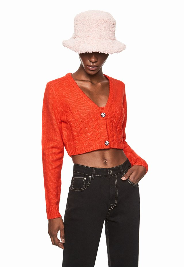 DUA LIPA X PEPE JEANS - Cardigan - bright orange