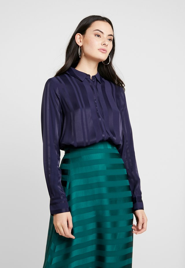 ZARON - Button-down blouse - black iris