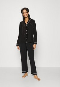Anna Field - AMANDA LONG PJ SET - Pyjama - black - 1
