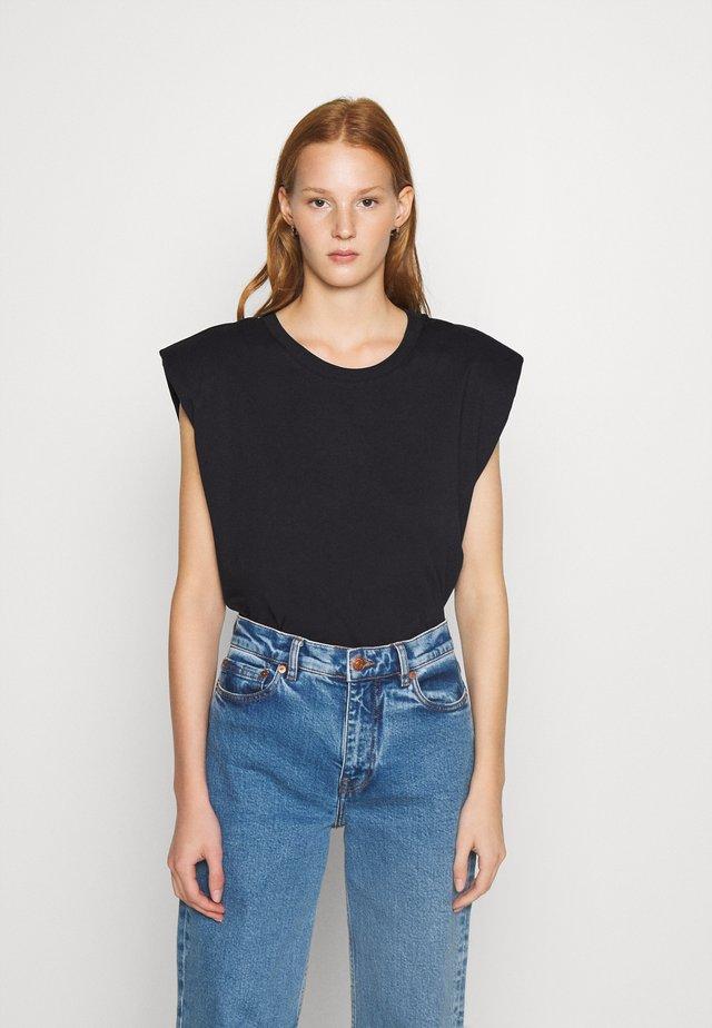 MONTERIO - Basic T-shirt - black