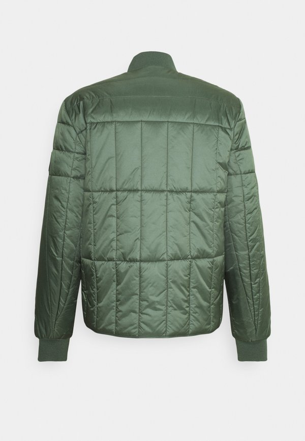 Calvin Klein Jeans QUILTED LINER JACKET - Kurtka Bomber - duck green/oliwkowy Odzież Męska HWIM