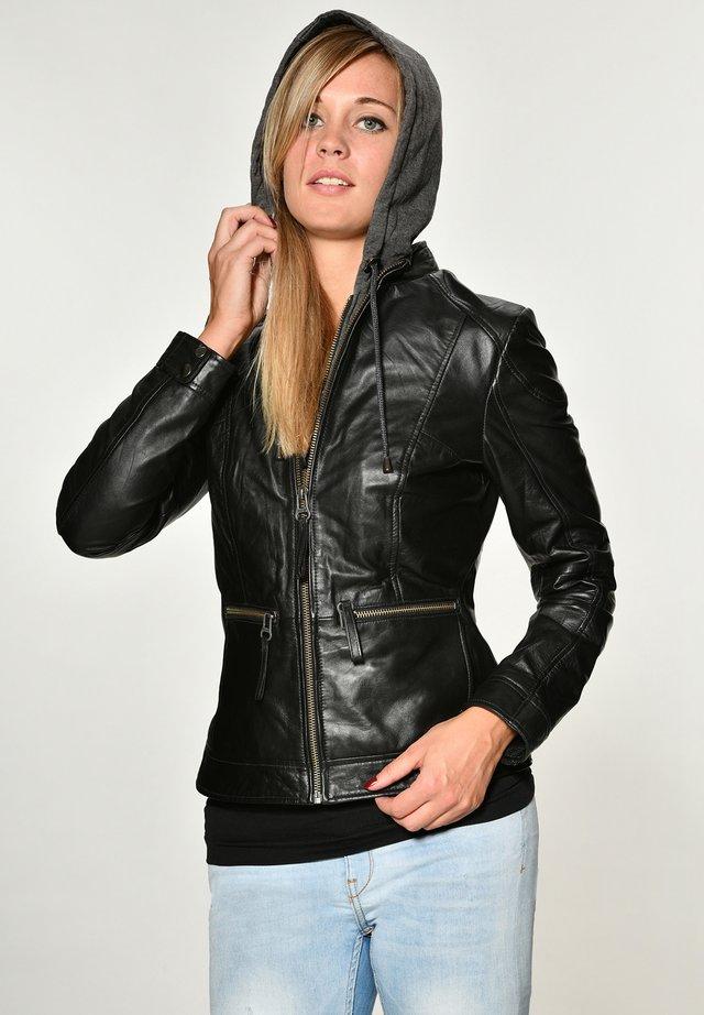 BRAYFORD - Leather jacket - black