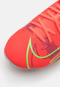 Nike Performance - MERCURIAL 8 ACADEMY MG UNISEX - Moulded stud football boots - bright crimson/metallic silver - 5