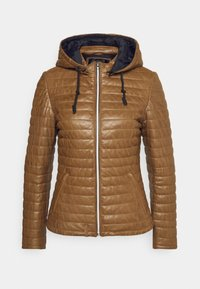 Oakwood - Leather jacket - cognac - 0