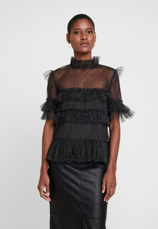 RACHEL BLOUSE - Pusero - black/metallic