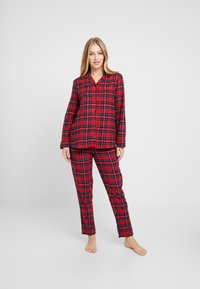 Benetton - DYED CHECK FRONT OPENING SET - Pigiama - red tartan - 0