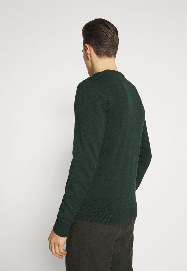 Pier One Sweter - mottled dark green/ciemnozielony melanż Odzież Męska DGZY