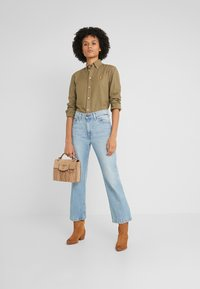 Polo Ralph Lauren - RELAXED LONG SLEEVE SHIRT - Button-down blouse - olive - 1