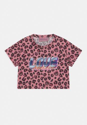 LEOPARD CROP - Print T-shirt - pink