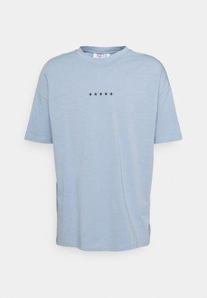 GLOBE PRINT - Print T-shirt - steel blue