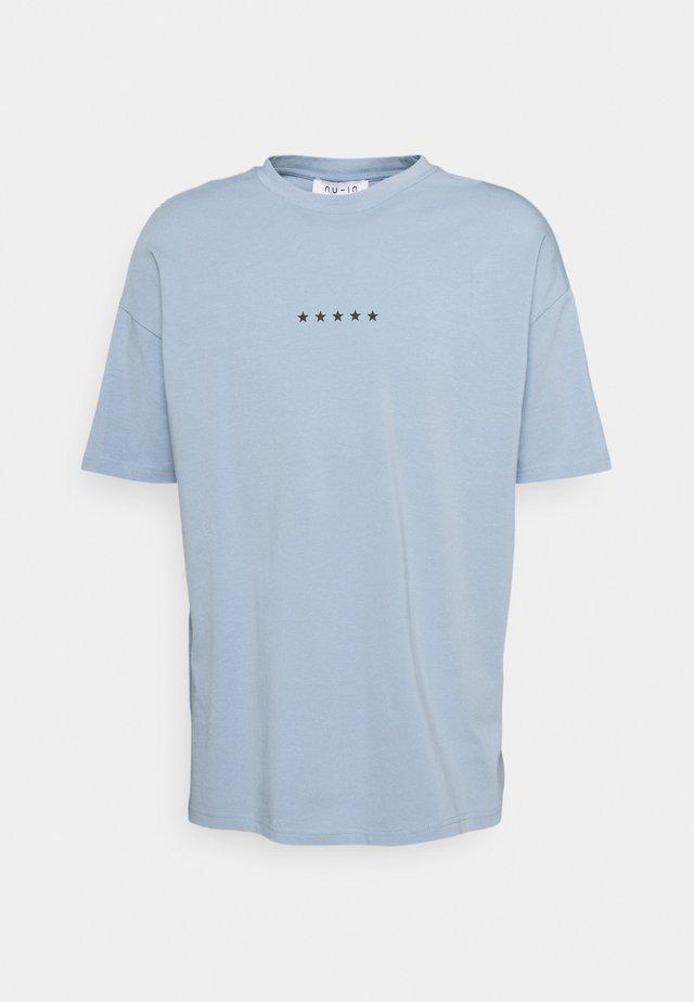 GLOBE PRINT - T-shirt print - steel blue