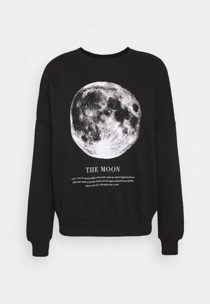 Loose Fit Printed Sweatshirt - Felpa - black