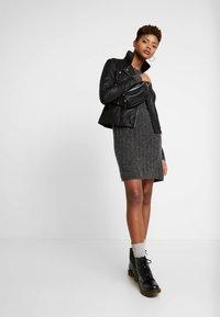 YAS - YASSOPHIE JACKET - Leather jacket - black - 1