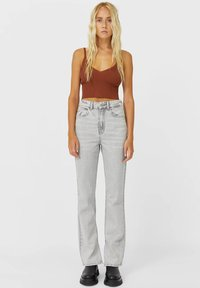 Stradivarius - IM STRAIGHT-FIT - Straight leg jeans - grey - 1