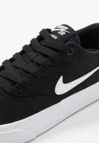 Nike SB - CHARGE - Trainers - black/white - 5