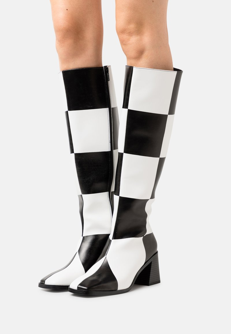 Monki - POLLY BOOT VEGAN - Boots - white light