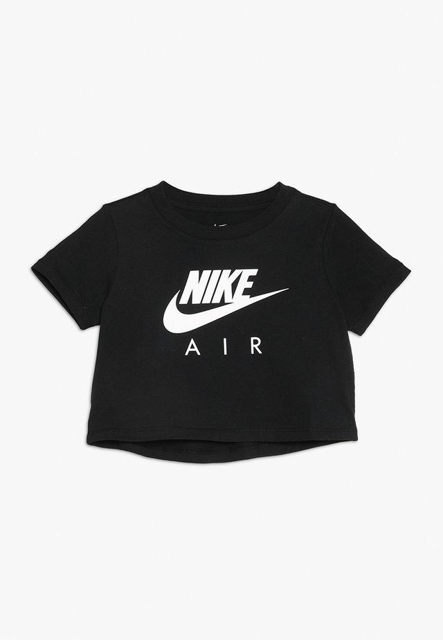 TEE AIR CROP - Print T-shirt - black