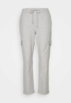 COSY CARGO JOGG PANTS - Trousers - cloudy melange