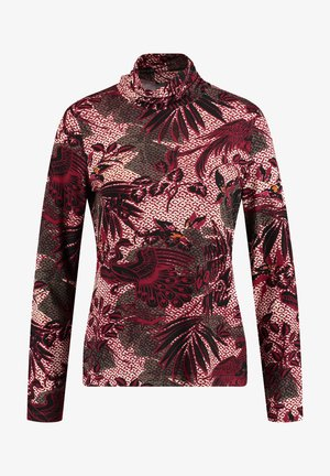 MIT FLORAL-PRIN - Long sleeved top - cherry wine gemustert