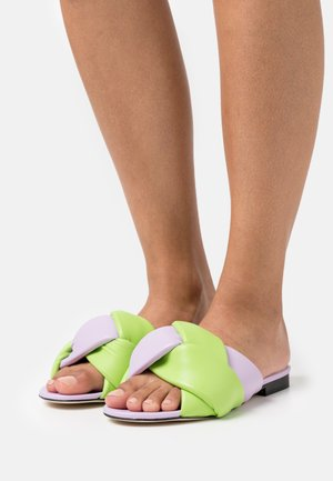 Mules - green/lilac