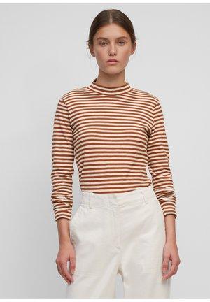 Long sleeved top - multi/ orange