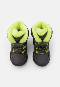Kamik - STANCE UNISEX - Winter boots - charcoal/lime - 3