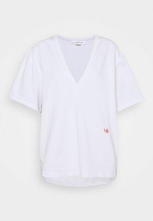 HEAVY WEIGHT V NECK OVERSIZED TEE - Basic T-shirt - optic white