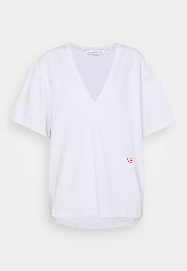 HEAVY WEIGHT V NECK OVERSIZED TEE - T-shirt basique - optic white