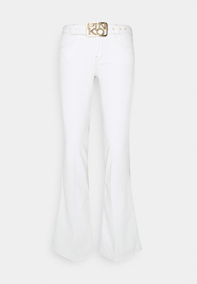 FELIZ COMFORT - Flared Jeans - white denim