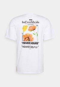 HUF - NEVER YOURS TEE - Print T-shirt - white - 1