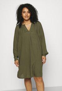 Zizzi - KNEE DRESS - Day dress - ivy green - 0