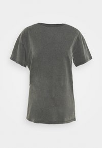 Topshop - DISTRESSED TEE - Print T-shirt - washed black - 4