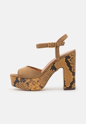 High heeled sandals - alce/goldcrest