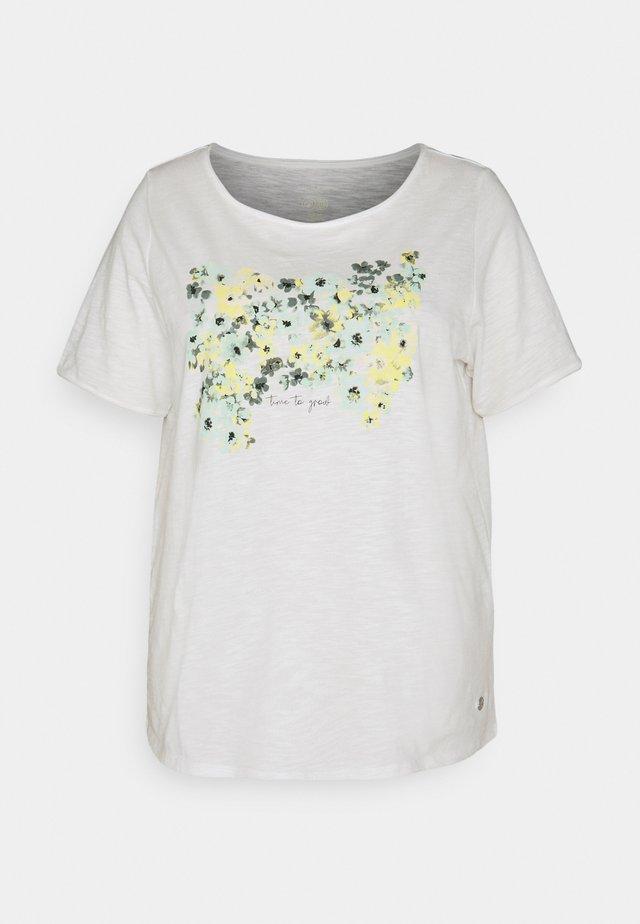 FRONT ARTWORK - Camiseta estampada - whisper white