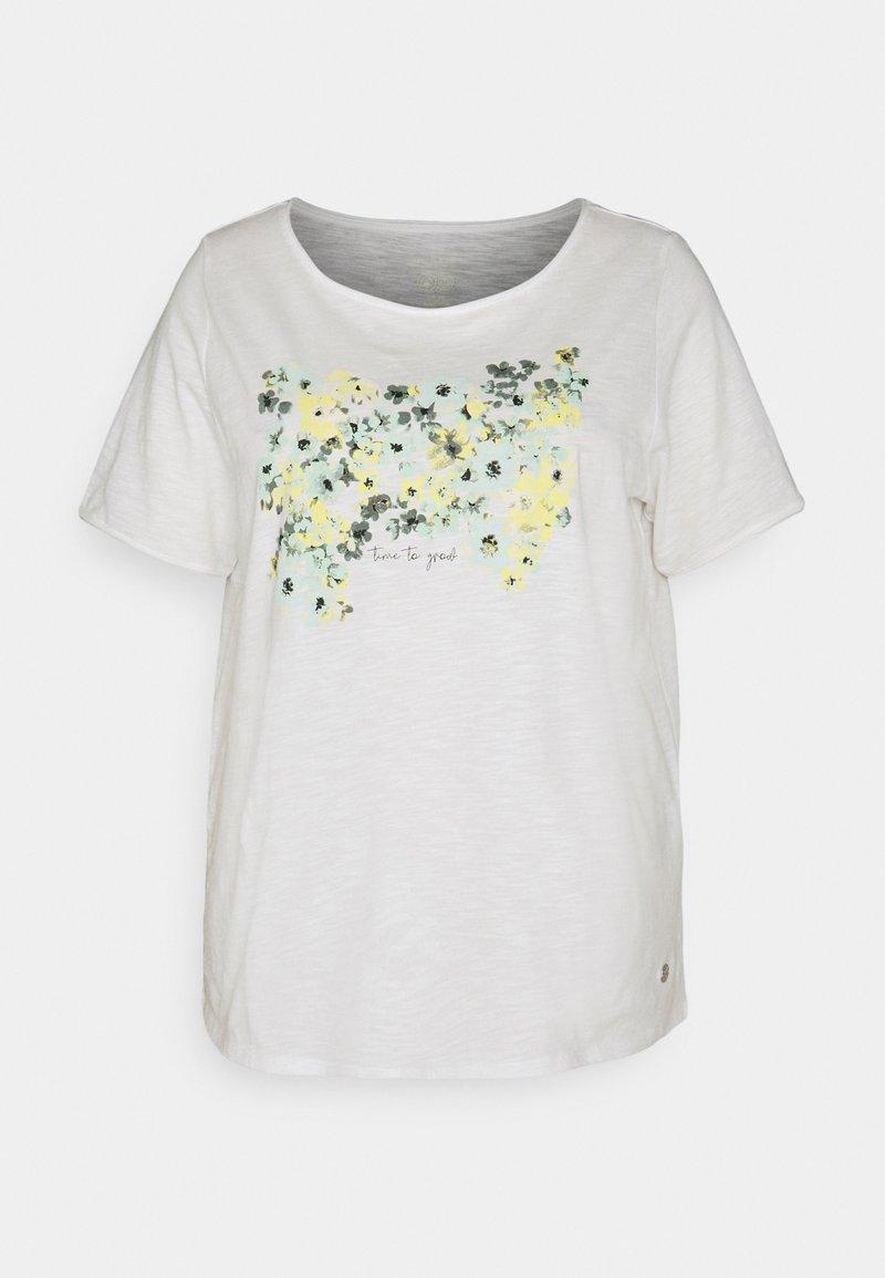MY TRUE ME TOM TAILOR - FRONT ARTWORK - Print T-shirt - whisper white