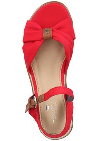 TOM TAILOR - Wedge sandals - red - 3