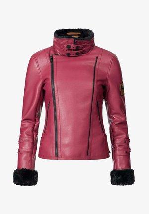 KOKOO - Faux leather jacket - bordeaux