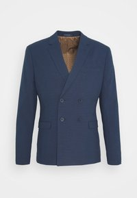 Isaac Dewhirst - CHECK SUIT DOUBLE BREASTED - Completo - dark blue - 12