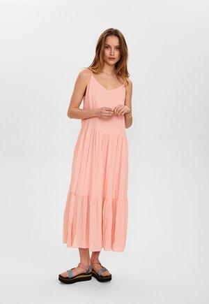 Maxi dress - peach skin