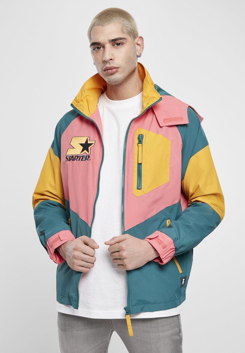 Starter - MULTICOLORED LOGO - Summer jacket - green/yellow/pink