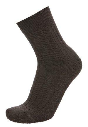 Socks - TEPPICH IM SCHUH - dark brown melange