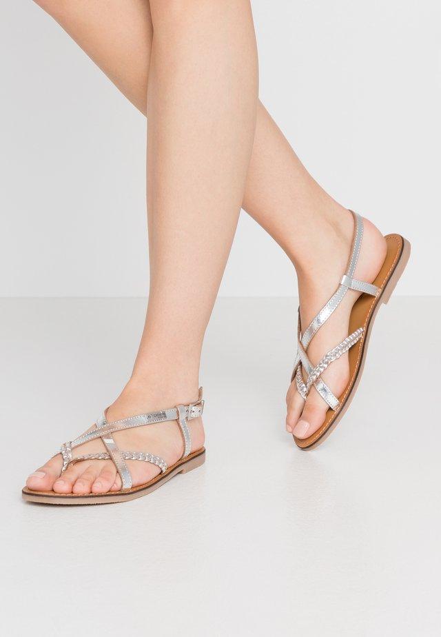 CHOU - Sandaler m/ tåsplit - argent