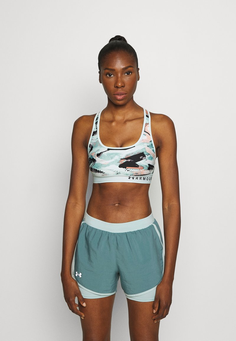 Under Armour - MID CROSSBACK BRA - Sports bra - seaglass blue